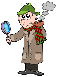Cartoon detective